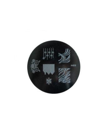 Stampi metallici per decorazione unghie n.69