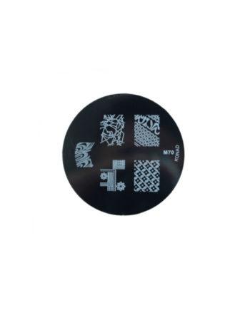 Stampi metallici per decorazione unghie n.70
