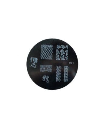 Stampi metallici per decorazione unghie n.71
