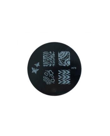 Stampi metallici per decorazione unghie n.78