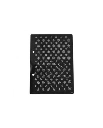 Stampi metallici per decorazione unghie cod.K